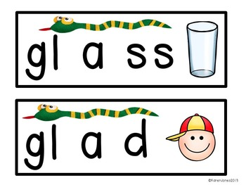 Stretchy Snake Words: Level 2! {Blends, Digraphs, and Dipthongs}