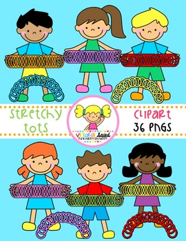 Stretchy Tots {Kids Clipart}