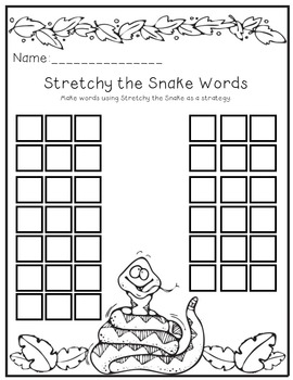 Stretchy the Snake Reading Strategy