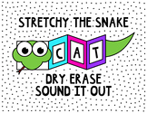 Stretchy the Snake foldable dry erase paper book