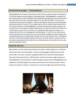 Strictly Ballroom film - Teacher Text Guides & Worksheets