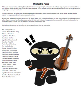 Strictly Strings Repertoire Checklist and Orchestra Ninja Guide