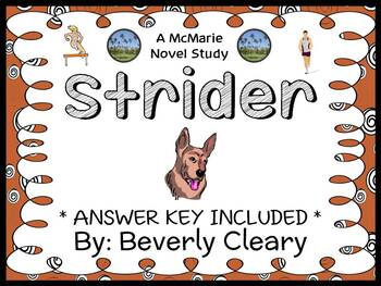 Strider (Beverly Cleary) Novel Study / Reading Comprehension  (37 pages)