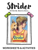 Strider. By Beverly Cleary.  Worksheets and Activites