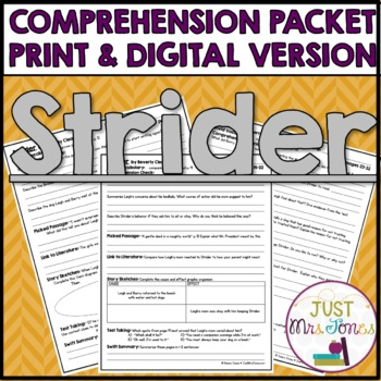 Strider Comprehension Packet