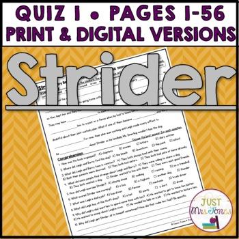Strider Quiz #1 (p. 1-56)