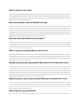Strider Reading Guide Packet