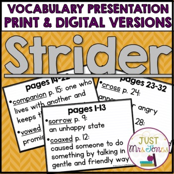 Strider Vocabulary Presentation