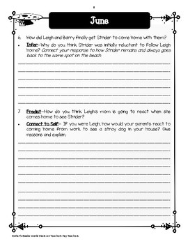 Strider  by Beverly Cleary - Novel  Study Units Bundle
