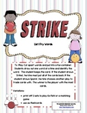 Strike! ~ A sight word recognition game using the first 10