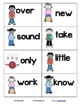 Strike! ~ A sight word recognition game using the 2nd100 Fry words