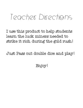 Gold Rush Game :     Strike It Rich!