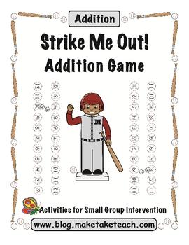 Strike Me Out! Baseball Addition Game