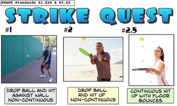 Strike Quest Paddle Skill PE Progression - 6 Levels!