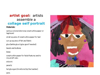 Strike a Pose Collage Self Portrait Power Point Lesson