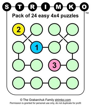 Strimko - 24 easy number logic puzzles