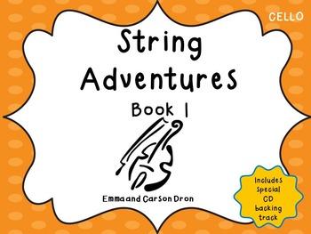 String Adventures Cello Book - A Unique Beginner String Me