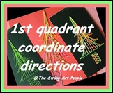 String Art Christmas Tree with Directions given as 1st qua