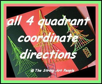 String Art Christmas Tree with directions given as 4 quadrant coordinates