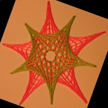 String Art Designs Based on a Pentagon