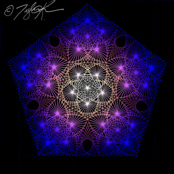 String Art Poster: Fractal Beauty