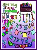 "Buntings ""Strings Banners Flags Pennants"" Clipart (Embelli"