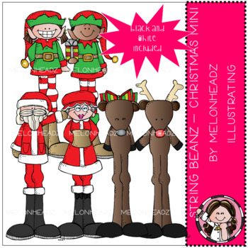 String Beanz clip art - Christmas - Mini - by Melonheadz