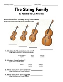 String Family ELL Worksheet