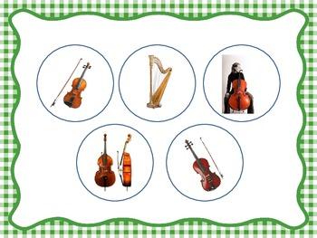 String Family Identification - File Folder Game/Music Room Centers