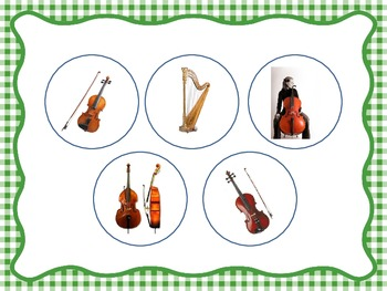 String Family Identification - File Folder Game/Music Room