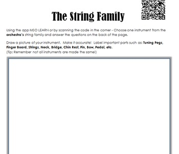 String Family Research Worksheet
