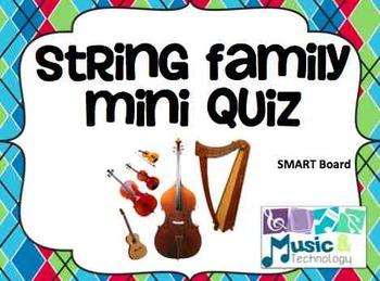 String Family SMART Board Mini Quiz