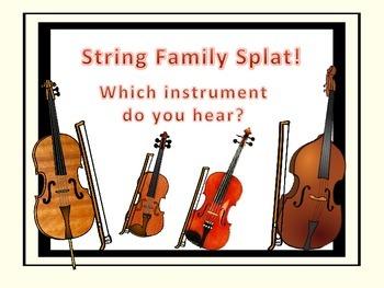 String Family Splat! - A Listening Game.
