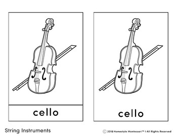 String Instrument 3 Part Cards