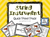 String Instrument Quick-Print Pack
