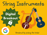 String Instruments - Digital Breakout! (Escape Room, Brain Break, Music)