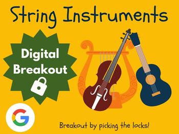 String Instruments - Digital Breakout! (Escape Room, Brain Break, Music)
