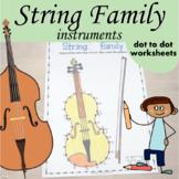 String Instruments Dot to dot Worksheets