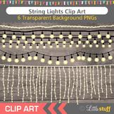 String Lights Clip Art, White Lights, Rope Lights Clipart