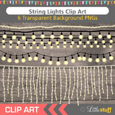 String Lights Clip Art, White Lights, Rope Lights Clipart
