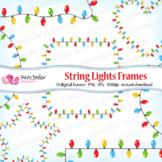 String Lights Frames clip art
