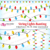 String Lights bunting banners clip art