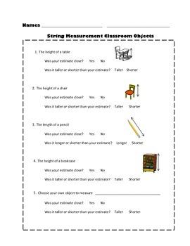 String Measurement Activities