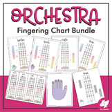 String Orchestra Fingering Charts: 1st & 3rd Position Fingerings