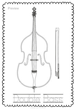 String Instruments Trace and Color Page