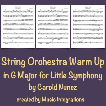 String Orchestra Warm Up in G Major for Little Symphony by Carold Nunez