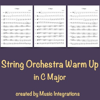 String Orchestra Warm Up in C Major- Syncopated Rhythms from Clocks