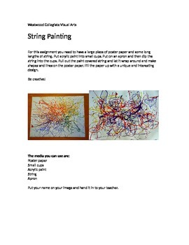 String Painting- Special Needs
