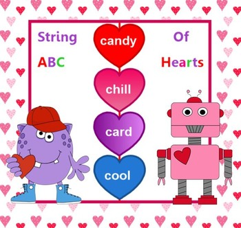 String of Hearts Valentine ABC order