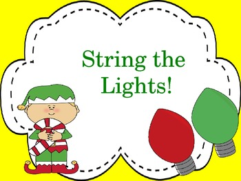 String the Lights! A game to reveiw notes on the Treble an